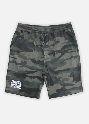 MOOSH SWEAT SHORTS - GREEN CAMO