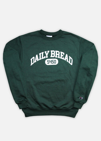 5450 COLLEGIATE CREWNECK - DARK GREEN