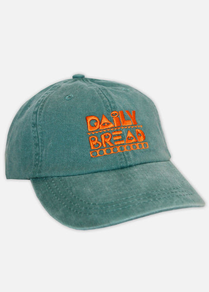 MOOSH PIGMENT DYED 6-PANEL - FOREST GREEN/ORANGE