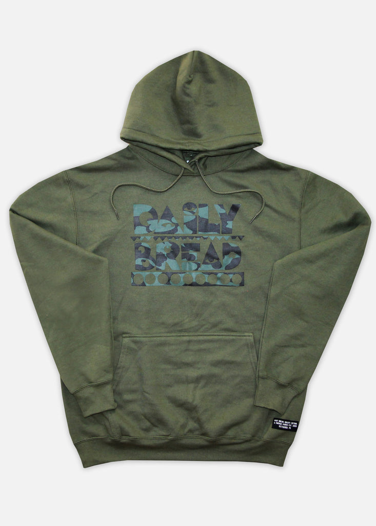 SPLASH CAMO MOOSH HOODIE - MILITARY GREEN