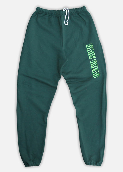 WAVY LOGO SWEATPANT - FOREST GREEN/LIME