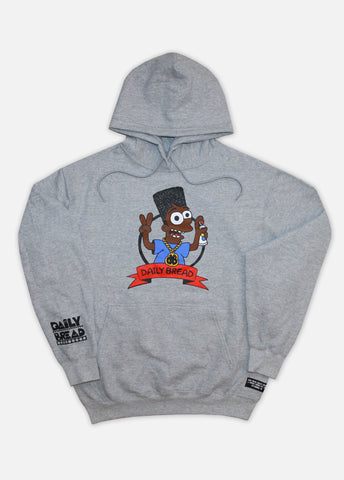 BLACK BART HOODIE - HEATHER GREY