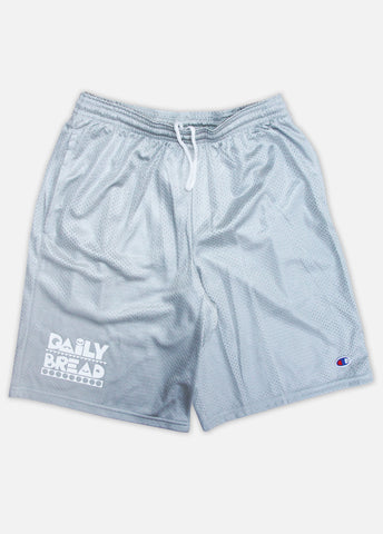 MOOSH CHAMPION MESH SHORTS - HEATHER GREY