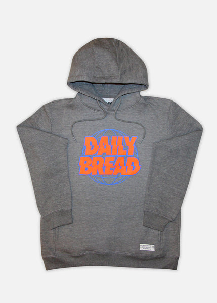 DB GLOBAL HOODIE - HEATHER GREY/ORANGE