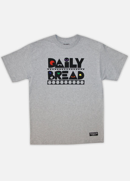 PRIMARY MOOSH TEE - HEATHER GREY
