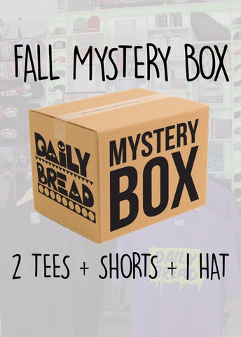 Fall Mystery Box: 2 Tees + Shorts + 1 Hat