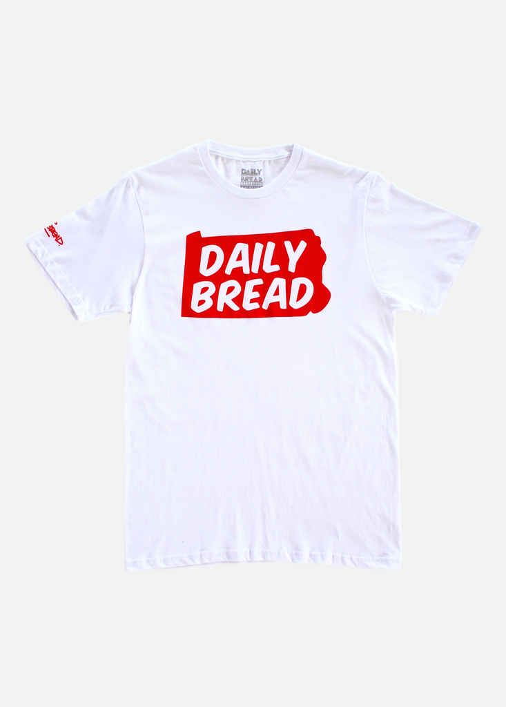 State Tee - White/Red