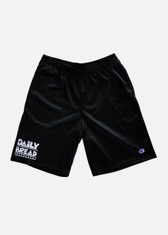 Daily Bread x Champion Mesh Shorts - Black