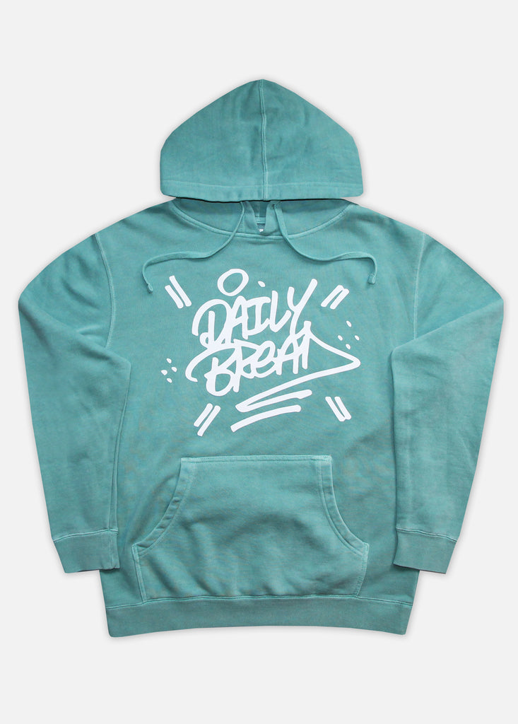 STACKED PIGMENT-DYED HOODIE - MINT