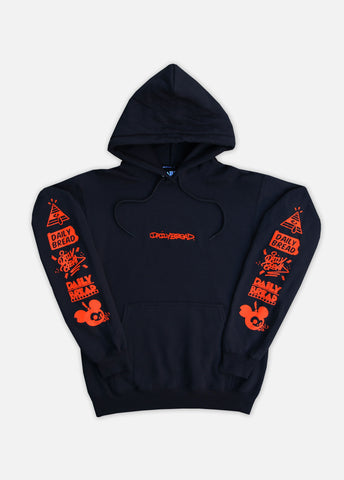 MOMENTO HOODIE - BLACK/ORANGE