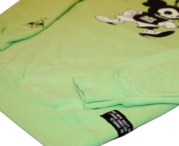 MOUSE HOODIE - LIME GREEN