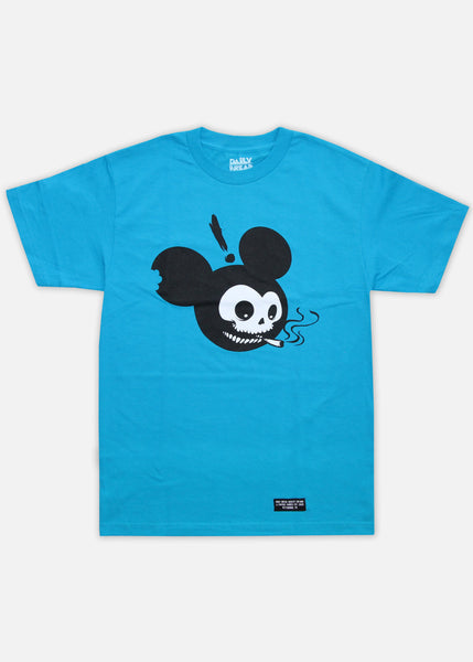 MOUSE HEAD TEE - TURQUOISE