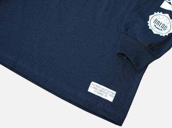 MOOSH LS TEE - NAVY/WHITE