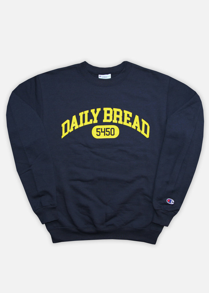 5450 COLLEGIATE CREWNECK - NAVY