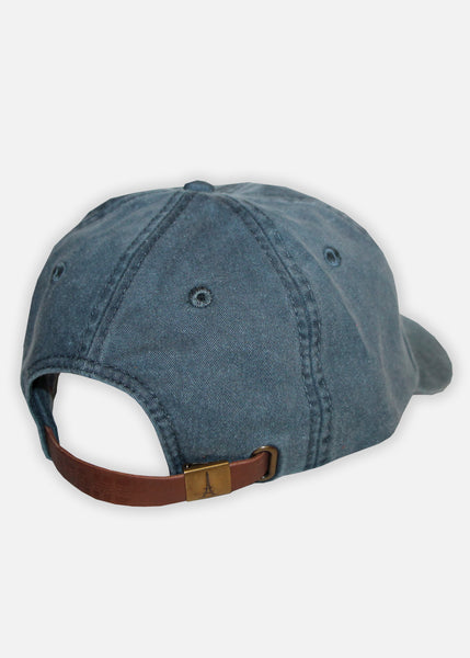 MOOSH PIGMENT DYED 6-PANEL - NAVY/AQUA