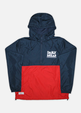MOOSH ANORAK JACKET - NAVY/RED