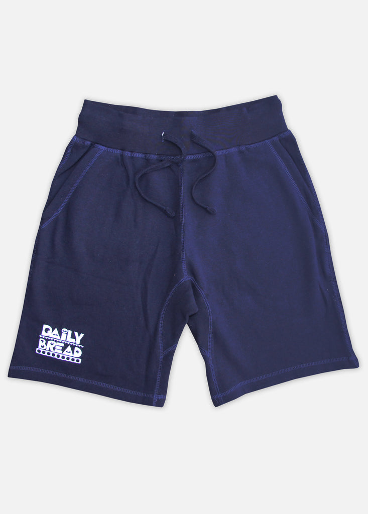 MOOSH SWEAT SHORTS - NAVY/WHITE