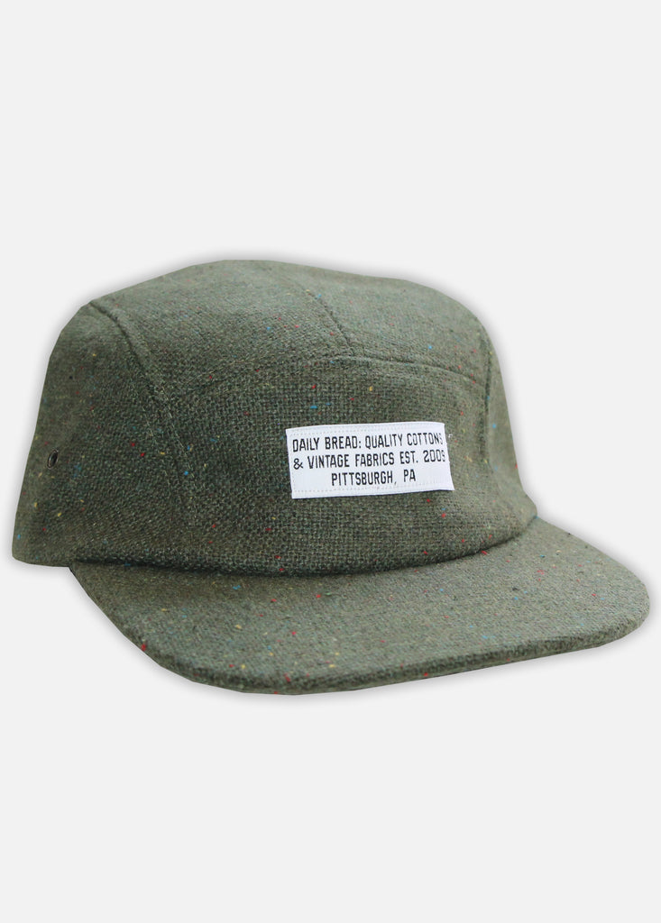 TWEED QUALITY COTTONS 5-PANEL - ARMY GREEN