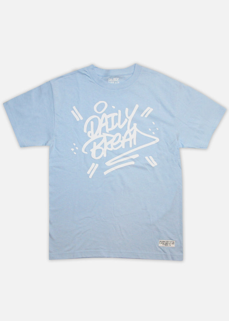 STACKED TEE - POWDER BLUE