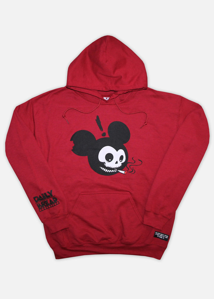 MOUSE HEAD HOODIE - CARDINAL RED