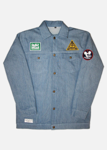 STATE PATCHED UP DENIM JACKET
