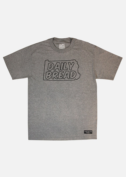 STATE OUTLINE TEE - HEATHER GREY