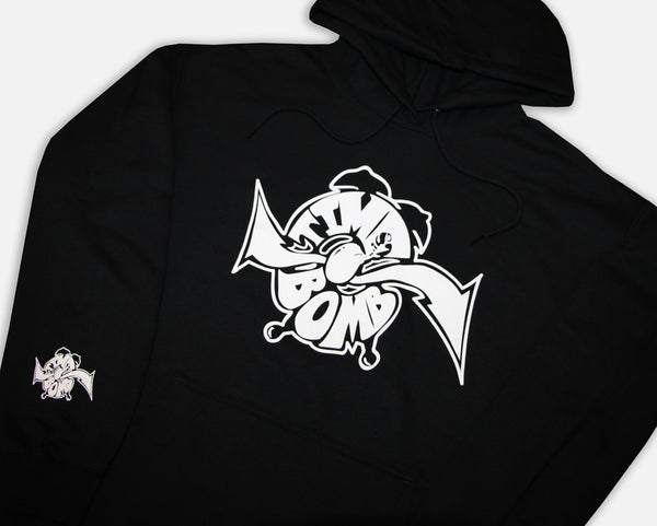 TIME BOMB OG CLOCK HOODIE - BLACK/WHITE