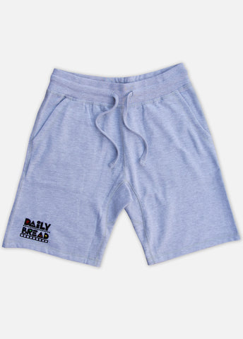 MOOSH SWEAT SHORTS - HEATHER GREY/PRIMARY