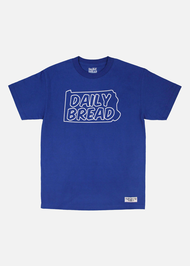 STATE OUTLINE TEE - ROYAL
