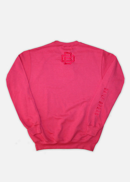 TONAL EMBROIDERED MOOSH CREWNECKS - PINK