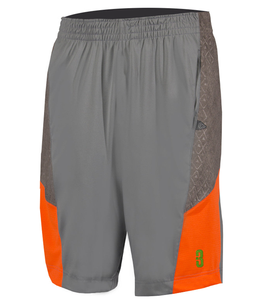 e6833ddba88971 YOUTH DRYV BALLER 2.0 - Basketball Shorts with DRYV® Moisture Control  Graphite Grey Orange ...