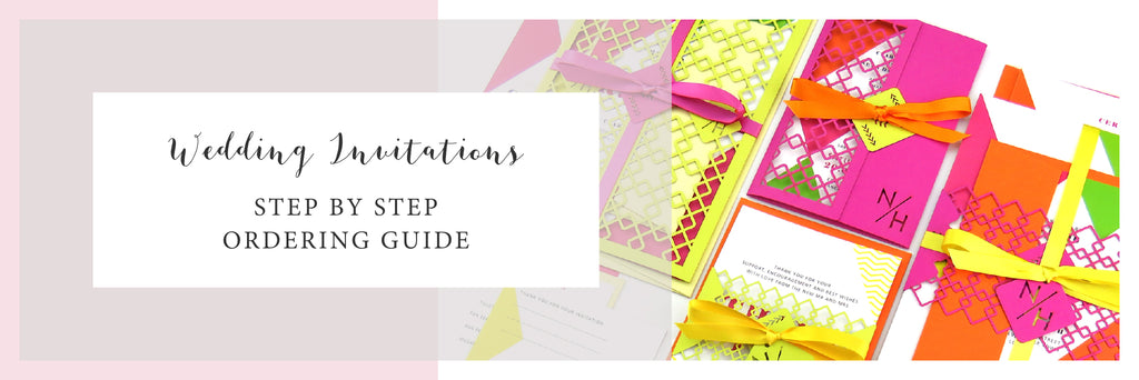 Bold Geometric Wedding Invitation Order Guide