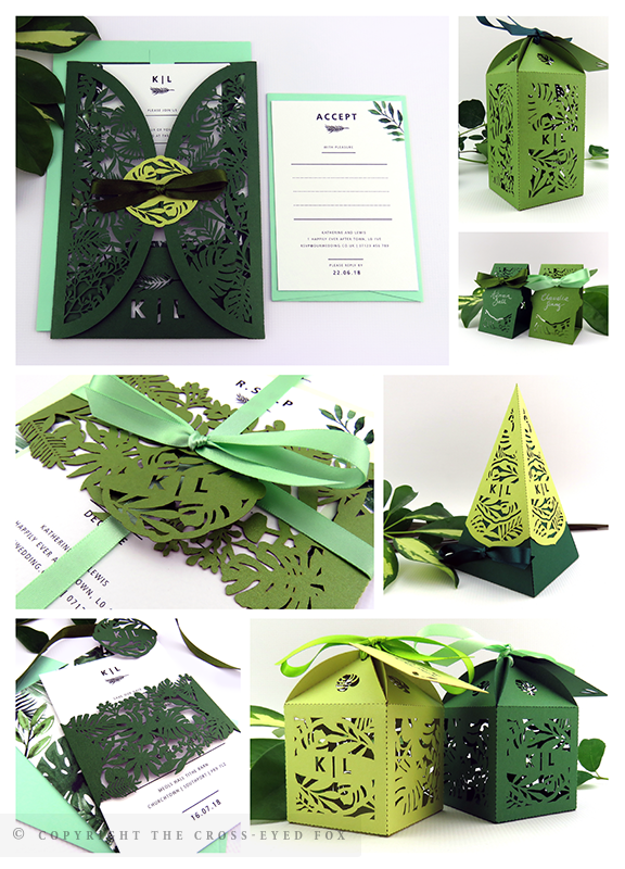 Botanical Tropical Greenery Wedding Inspiration | The Cross-Eyed Fox Wedding Stationery Design