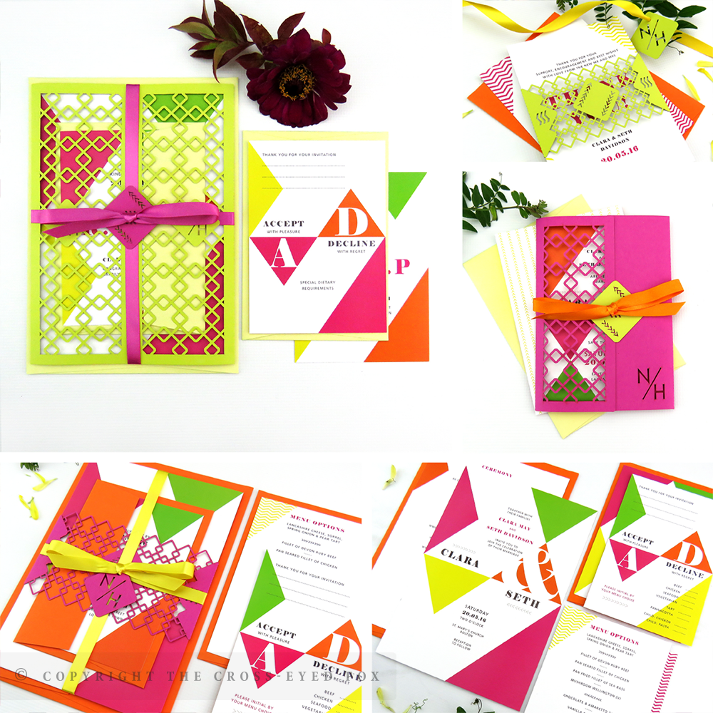 Bold Modern Geometric Wedding Invitations | The Cross-Eyed Fox Wedding Stationery Design