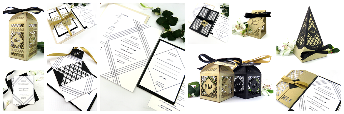 geometric art deco wedding inspiration