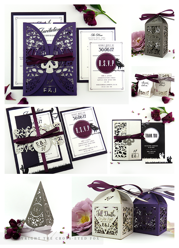 Gothic Skulls Wedding Inspiration | The Cross-Eyed Fox Wedding Stationery Design