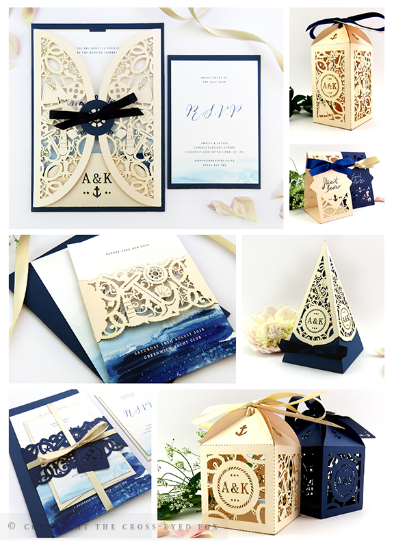 Nautical Navy & Blush Wedding Inspiration | The Cross-Eyed Fox Wedding Stationery Design