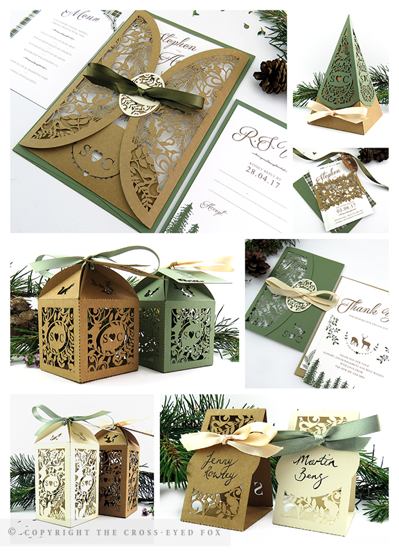 Rustic Woodland Wedding Inspiration | The Cross-Eyed Fox Wedding Stationery Design