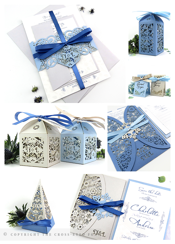 Winter wedding cool blue and silver wedding inspiration | The Cross-Eyed Fox Wedding Stationery Design