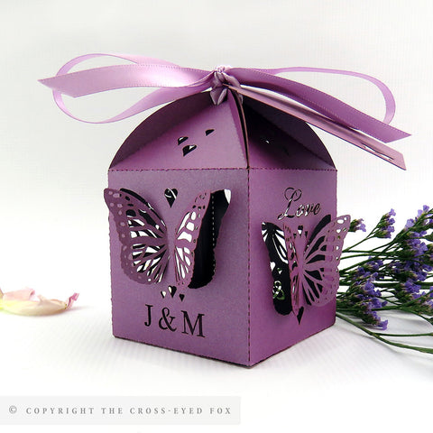 3d butterfly wedding favour box