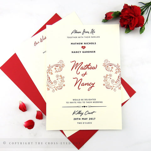 Alice in Wonderland | Sample Set Wedding Invitation & Belly Band