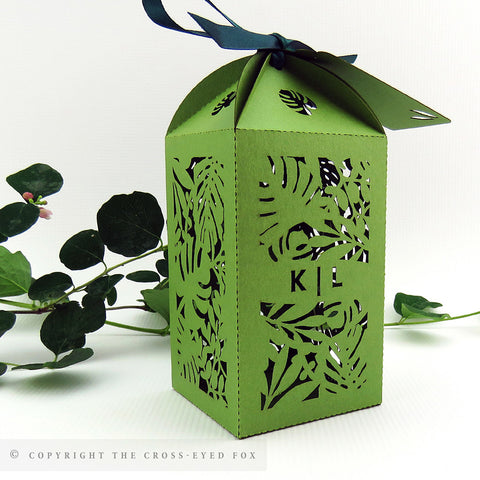 Botanical Tall Personalised Favour/Bottle Boxes