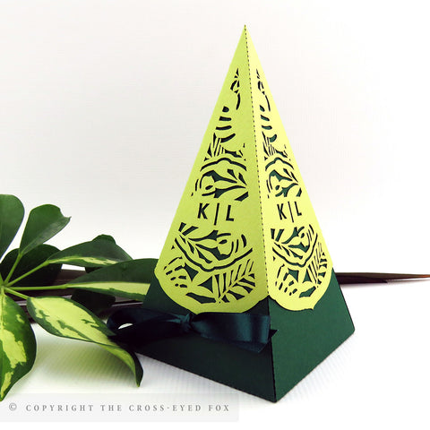 Botanical Pyramid Personalised Favour Boxes