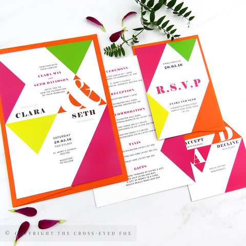 Bold Geometric | Sample Set Wedding Invitation & Jacket