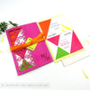 Bold Geometric Wedding Invitation Single Fold Jacket
