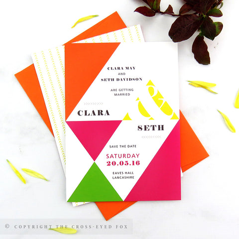Bold Geometric | Sample Set Printed Wedding Invitations