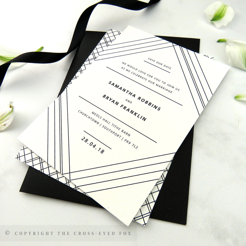 Modern Geometric Wedding Stationery Set – The Cross-Eyed Fox