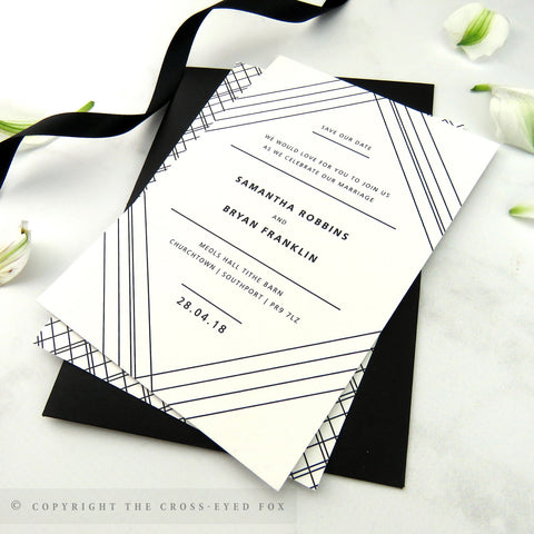 Modern Geometric | Sample Set Printed Wedding Invitations