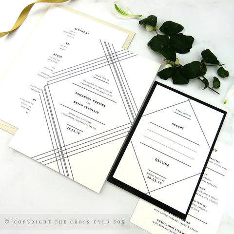 Modern Geometric | Sample Set Wedding Invitation & Jacket