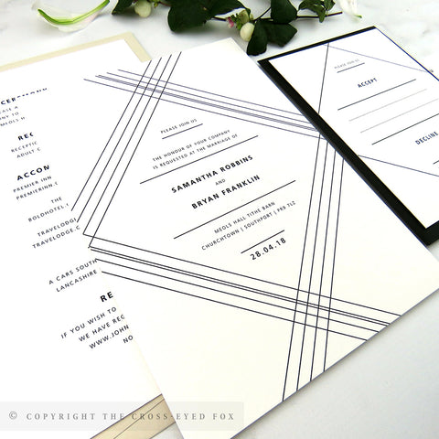 Modern Geometric | Sample Set Wedding Invitation & Belly Band